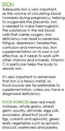 Iron in pregnancy