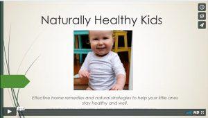 Free webinar: naturally healthy kids