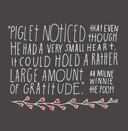 gratitude - piglet